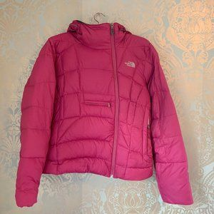 The North Face Fuscia Down Filled Winter Jacket